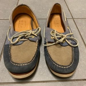Sperry Top Side Gold Cup Blue Boat Shoes Size 11